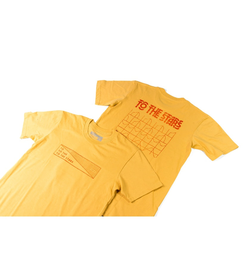 Glitch Stack T-Shirt Mustard