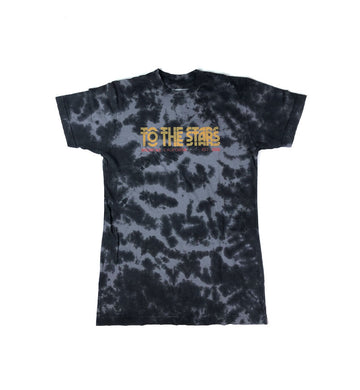 Glitch Tie Dye T-Shirt Black