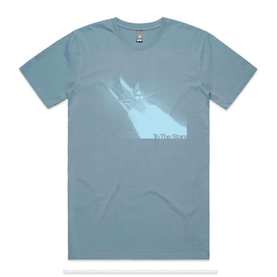 Glitch Tone T-Shirt Slate Blue