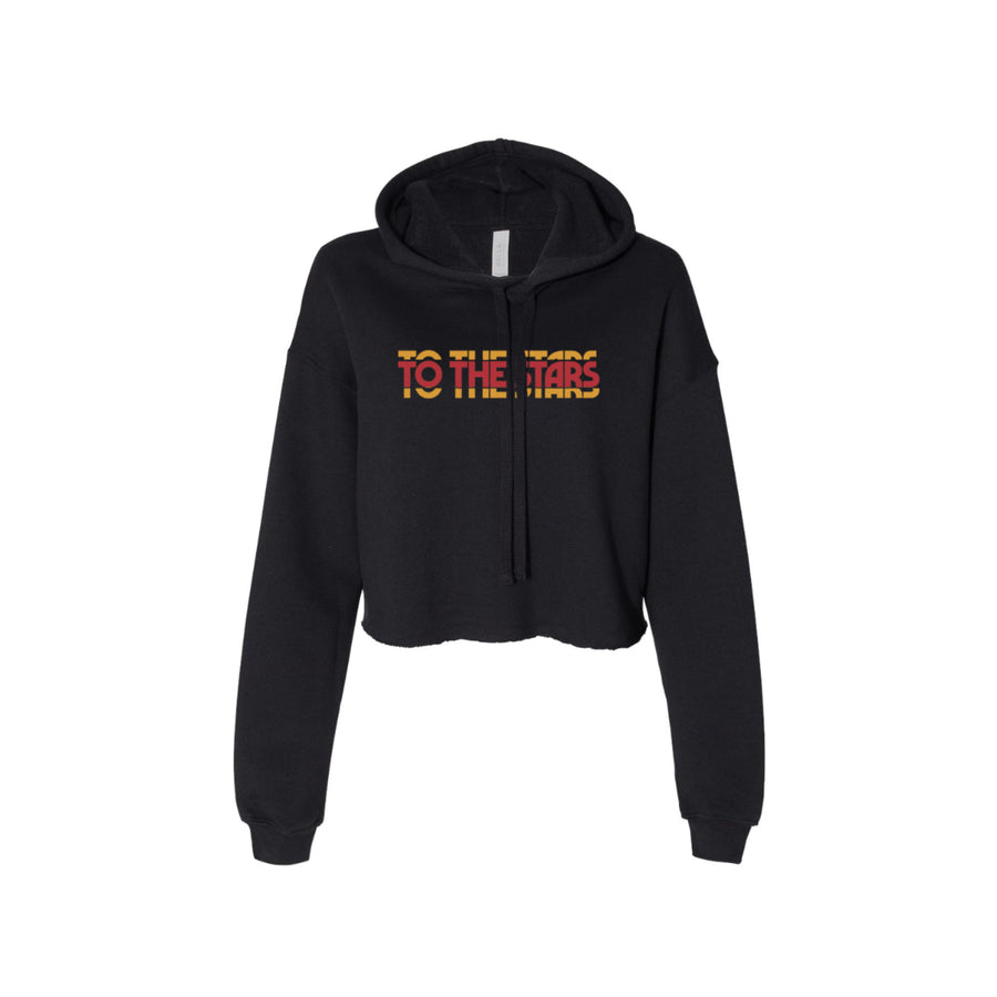 To The Stars Inc. Glitch Women's Cropped Hoodie Black - To The Stars...