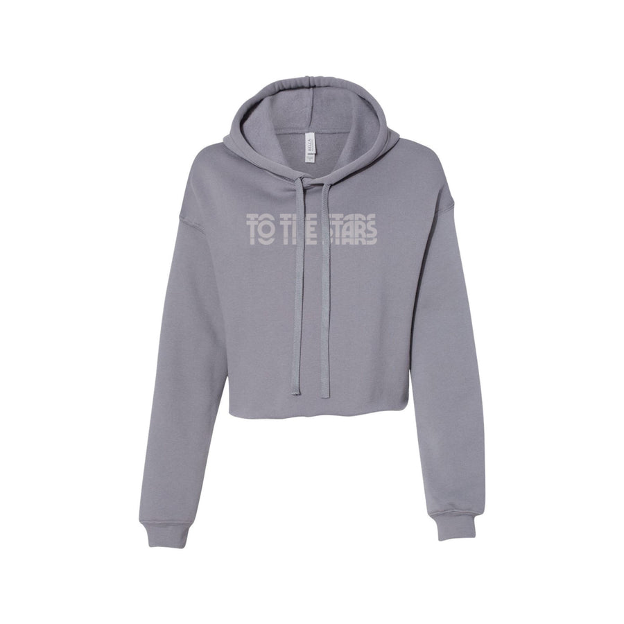 To The Stars Inc. Glitch Women's Cropped Hoodie Storm - To The Stars...