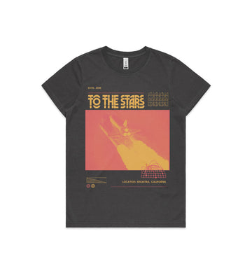 To The Stars Inc. Glitch Women's Faded T-Shirt Black - To The Stars...
