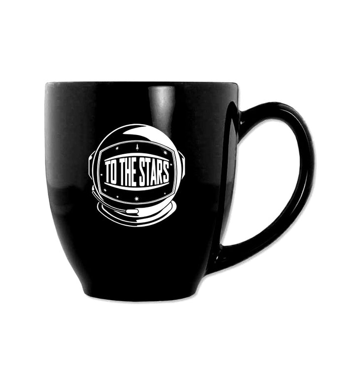 To The Stars... Helmet Mug Black/White - To The Stars...