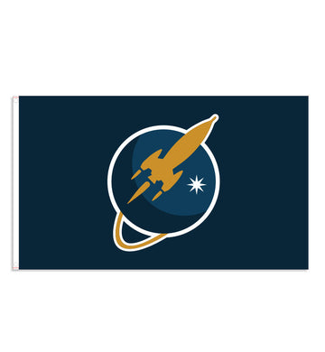 To The Stars Inc. Liftoff Logo Flag - To The Stars...