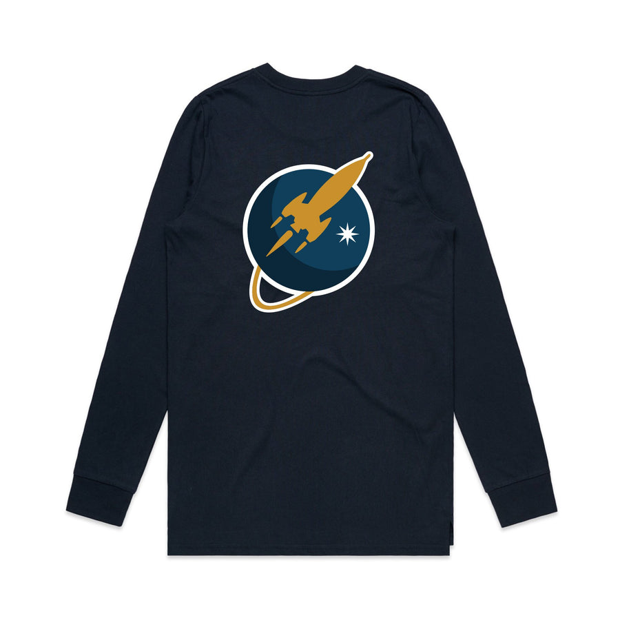 To The Stars Inc. Liftoff Logo L/S T-Shirt Navy - To The Stars...