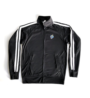 Liftoff Logo Embroidered Track Jacket Black