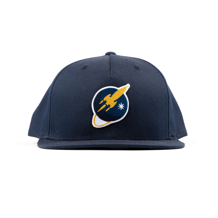 Liftoff Logo Patch Snapback Hat Navy