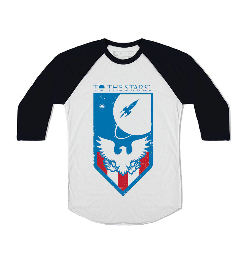 To The Stars... Memorial Unisex Raglan White/Black - To The Stars...