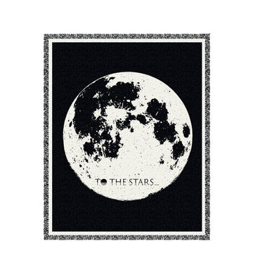 Moon Knit Blanket Black