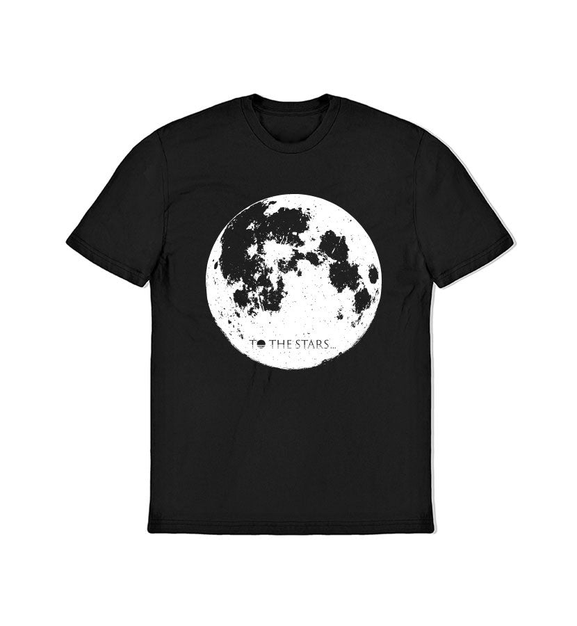 To The Stars Inc.-Moon T-Shirt-Black-x-small-To The Stars...