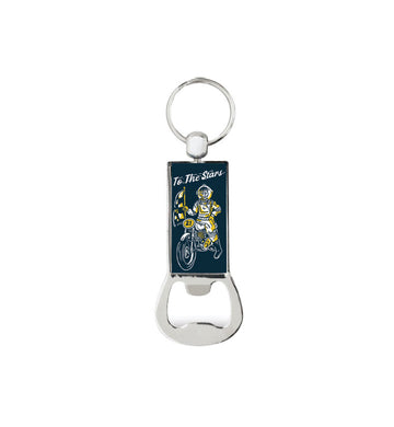 Moto Bottle Opener Keychain Navy