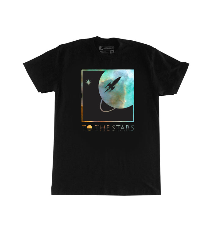 To The Stars... Nebula Full Icon T-Shirt Black - To The Stars...