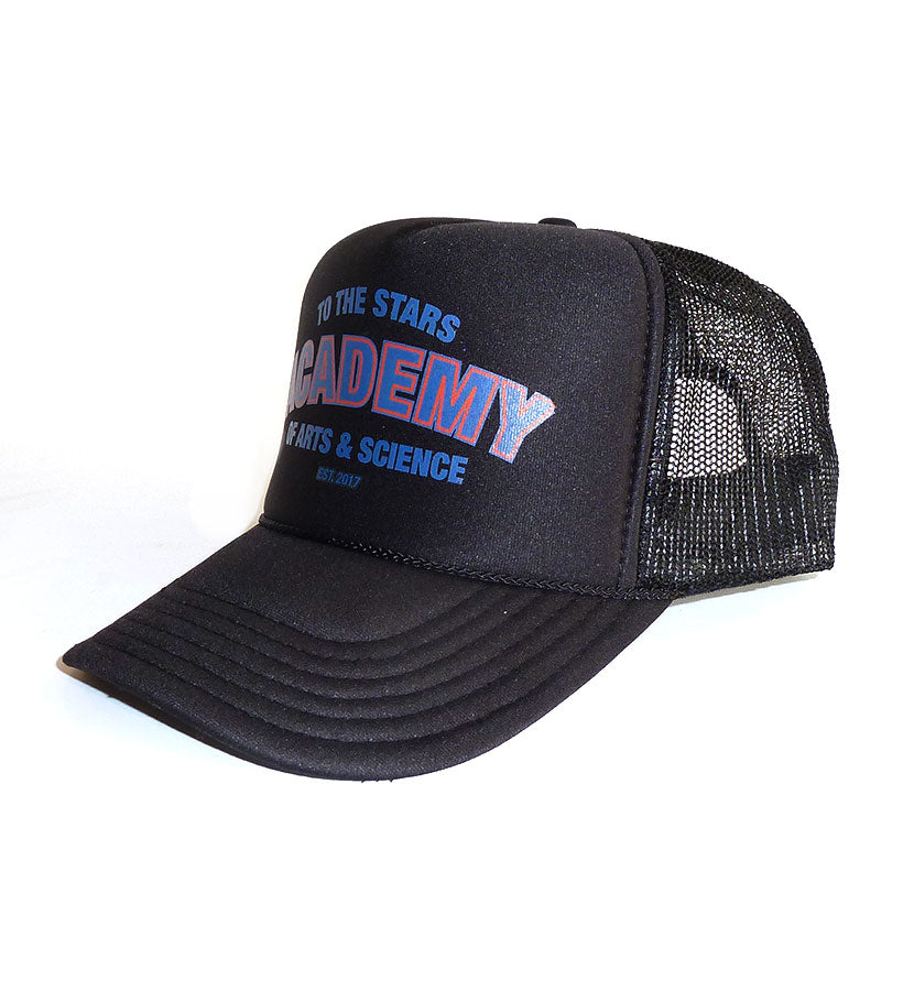 Academy Of Arts & Science Collegiate Trucker Hat Black - To The Stars...
