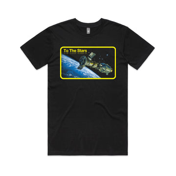To The Stars... Orbit T-Shirt Black | ToTheStars.Media