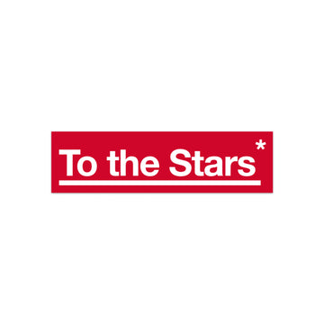 To The Stars Package Bumper Sticker Red/White | ToTheStars.Media
