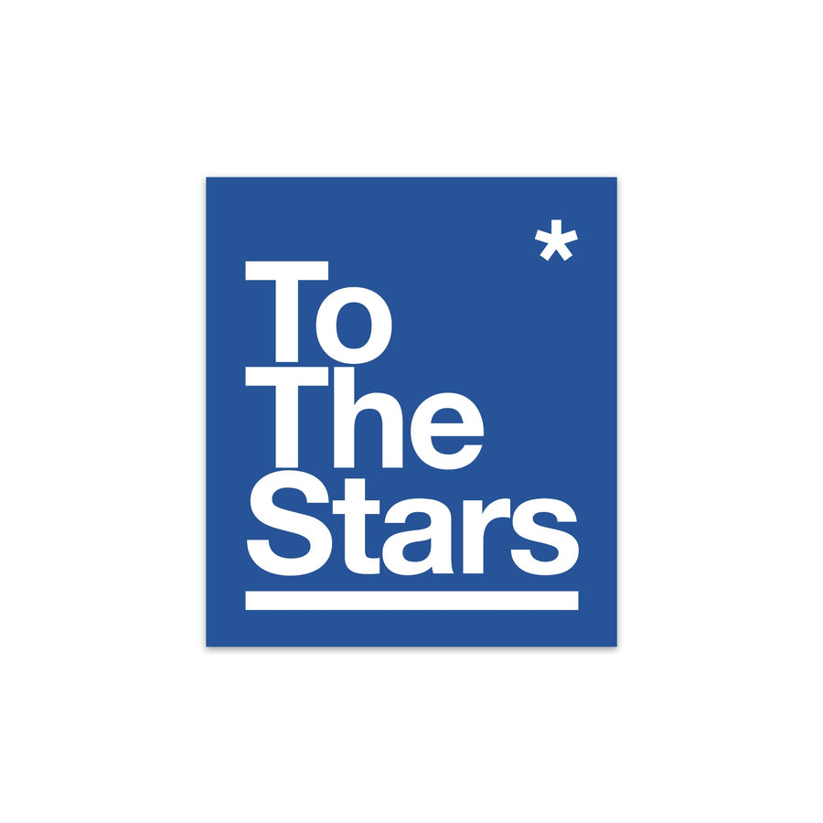 To The Stars Package Sticker Blue/White | ToTheStars.Media