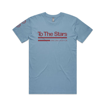 To The Stars... Patch T-Shirt Carolina Blue | To The Stars...