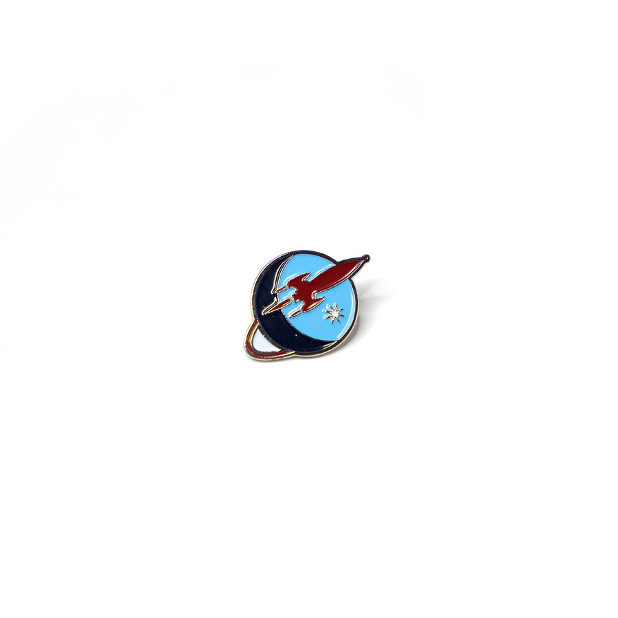 Retro Liftoff Logo Lapel Pin