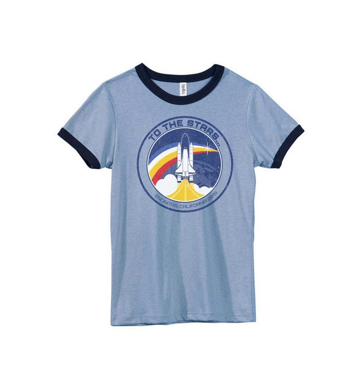 Retro Space Launch Women's Ringer T-Shirt