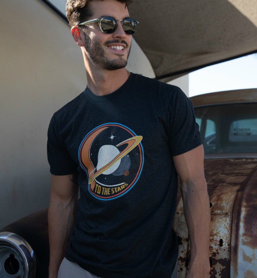 To The Stars... Saturnday T-Shirt Vintage Black - lifestyle - To The Stars...