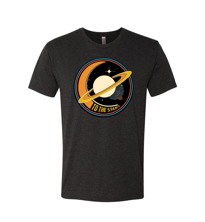 To The Stars... Saturnday T-Shirt Vintage Black - To The Stars...