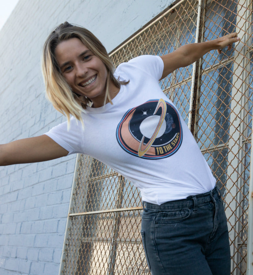 To The Stars... Saturndays Women's T-Shirt White - lifestyle - To The Stars...