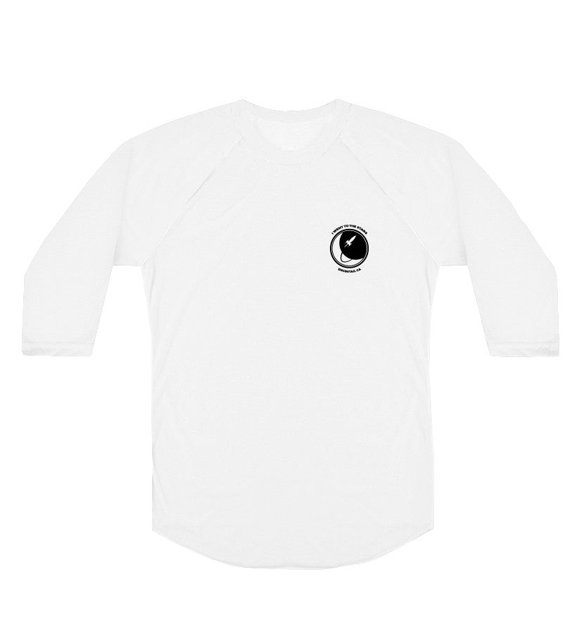 To The Stars Inc.-Simple Circle Logo Unisex Raglan-White-x-small-To The Stars...