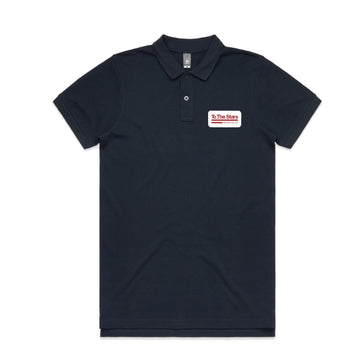 Tech Labs Patch Pique Polo Navy