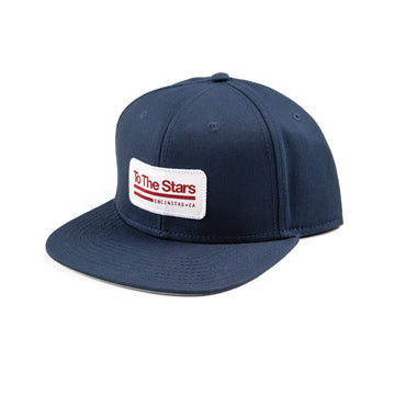 Tech Labs Patch Snapback Hat Navy