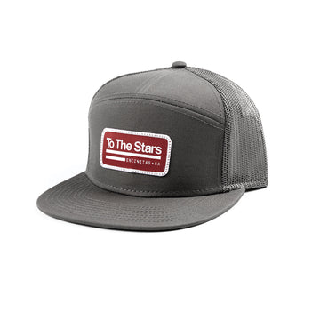 Tech Labs Patch Trucker Hat Charcoal Grey