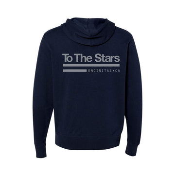 To The Stars... Tech Labs Unisex Zip-Up Hoodie Navy