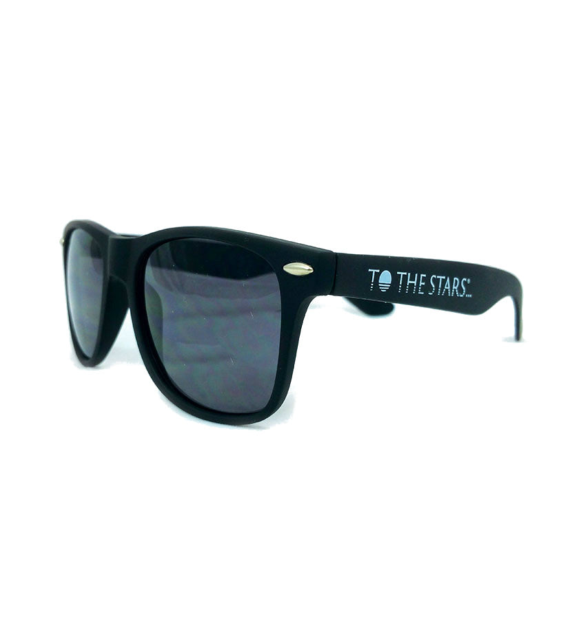 To The Stars... Text Logo Sunglasses Black