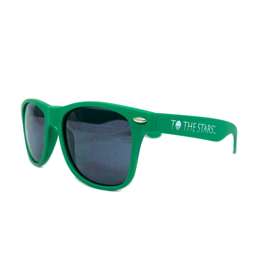 To The Stars Inc.-Text Logo Sunglasses-Green-To The Stars...