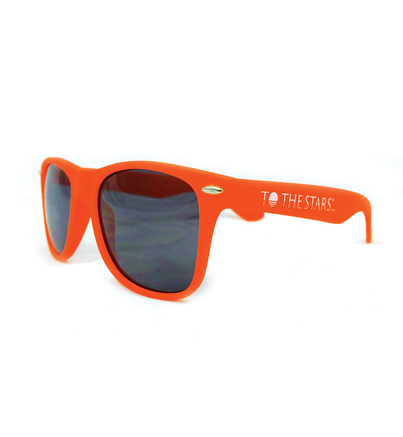 To The Stars... Text Logo Sunglasses Orange