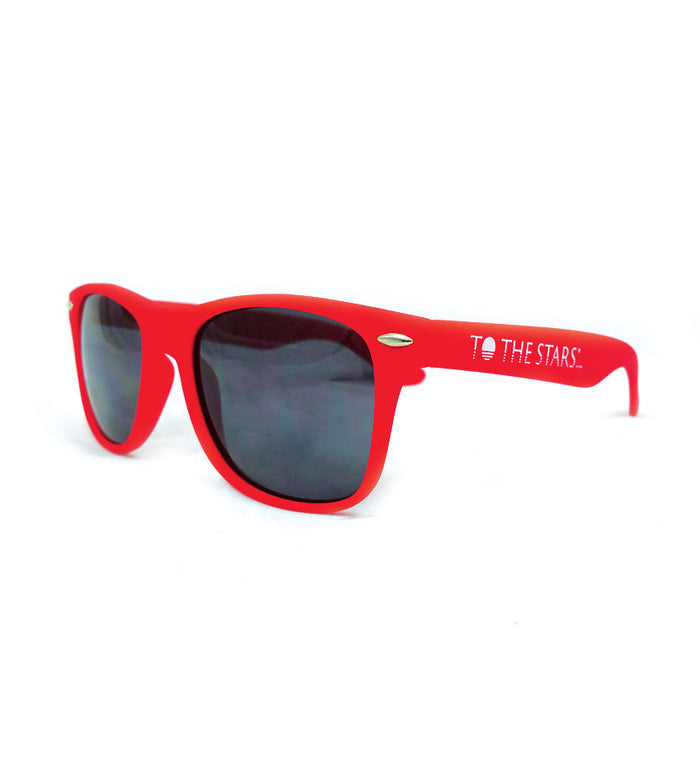To The Stars... Text Logo Sunglasses Red