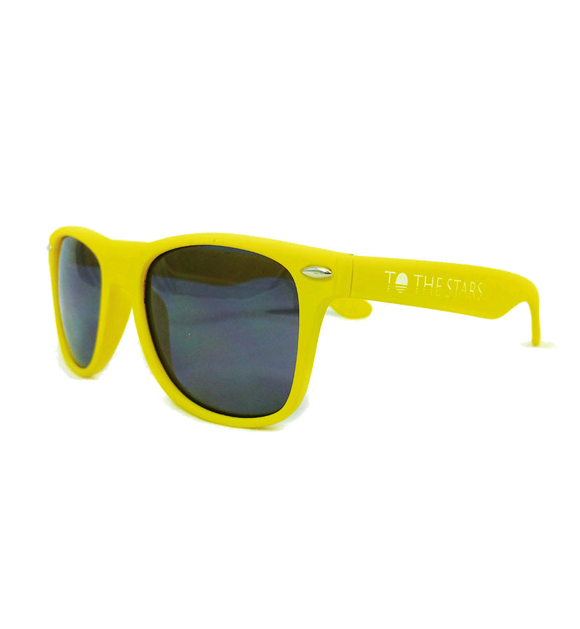 To The Stars... Text Logo Sunglasses Yellow - To The Stars...
