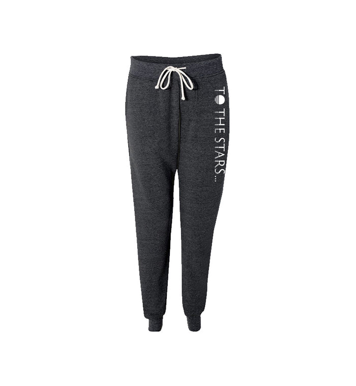 To The Stars... Text Logo Unisex Joggers Dark Grey/White - To The Stars...