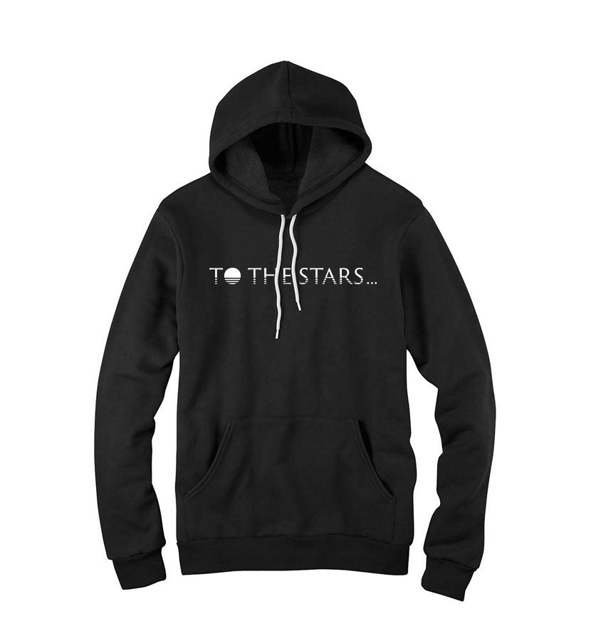 To The Stars... Text Logo Unisex Pullover Hoodie Black - To The Stars...