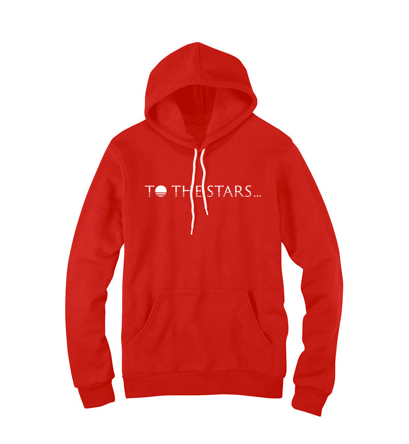 To The Stars... Text Logo Unisex Pullover Hoodie Red - To The Stars...