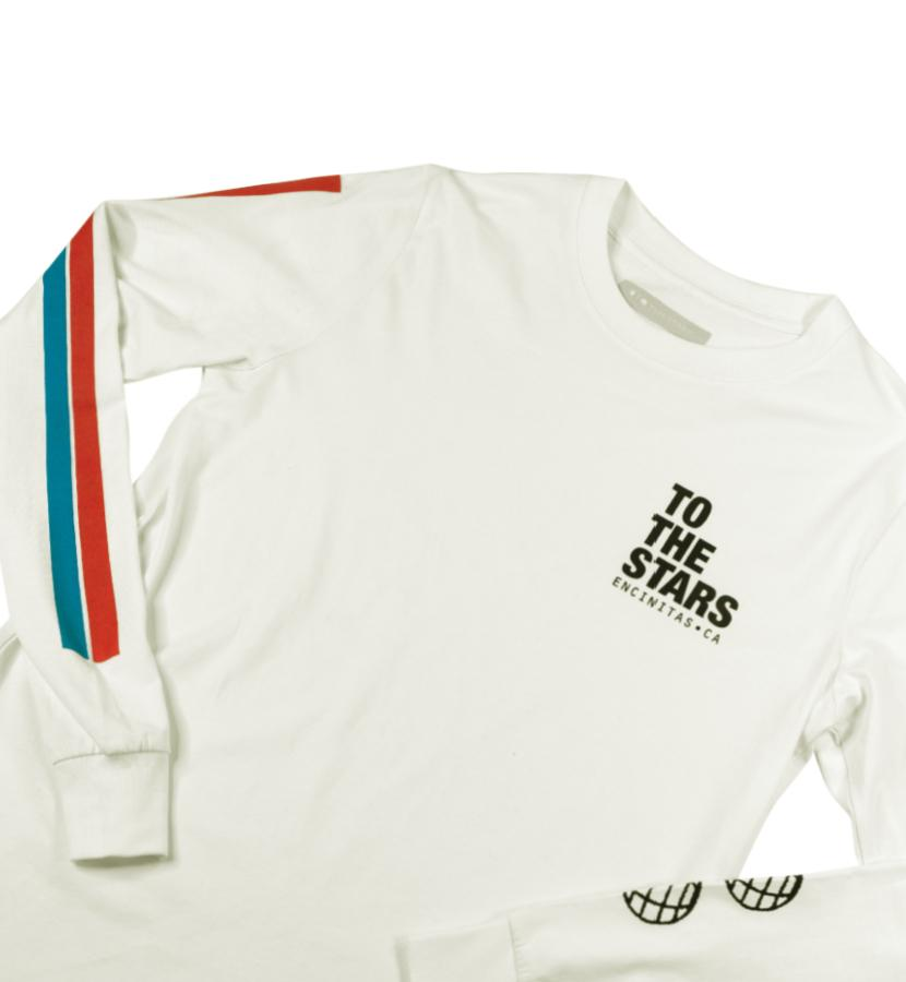 To The Stars Inc. Vintage Bars Text L/S T-Shirt Natural - To The Stars...