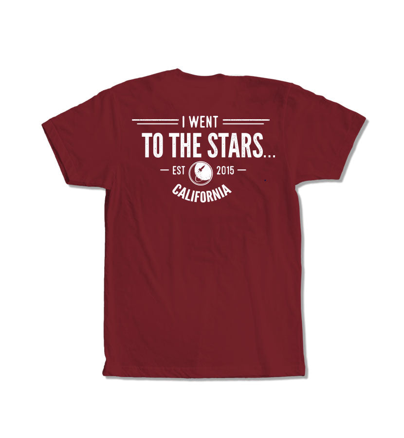 To The Stars... Vintage T-Shirt Cardinal Back - To The Stars...