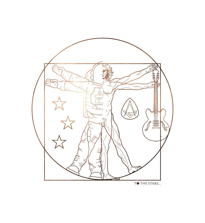 To The Stars... Vitruvian Flag White Secondary - To The Stars...