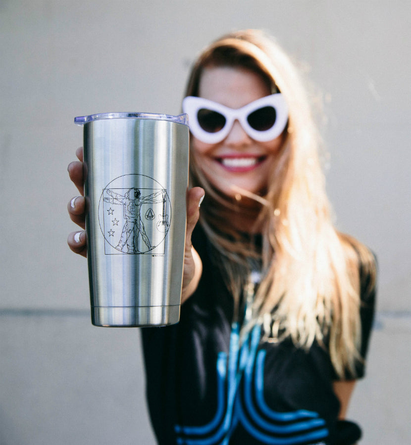 To The Stars... Vitruvian Stainless Steel Travel Mug - Lifestyle - To The Stars...