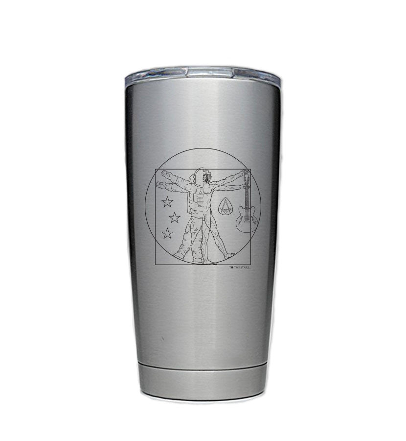 Vitruvian Stainless Steel Travel Mug