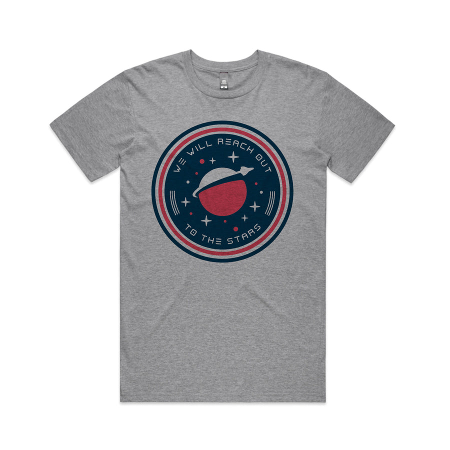 To The Stars... We Will Reach Out T-Shirt Heather Grey | ToTheStars.Media