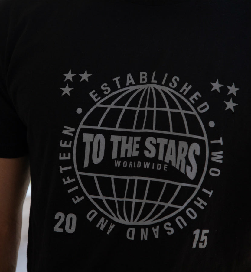 To The Stars... Worldwide T-Shirt Black/Grey - To The Stars...