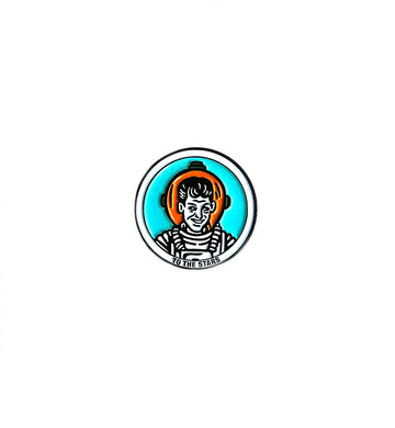 Wrecked Astronaut Lapel Pin