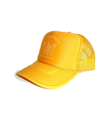 To The Stars Inc. Wrecked Trucker Hat Gold/Gold - To The Stars...