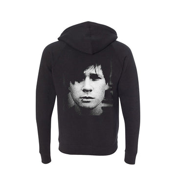 Portrait Unisex Zip-Up Hoodie Black