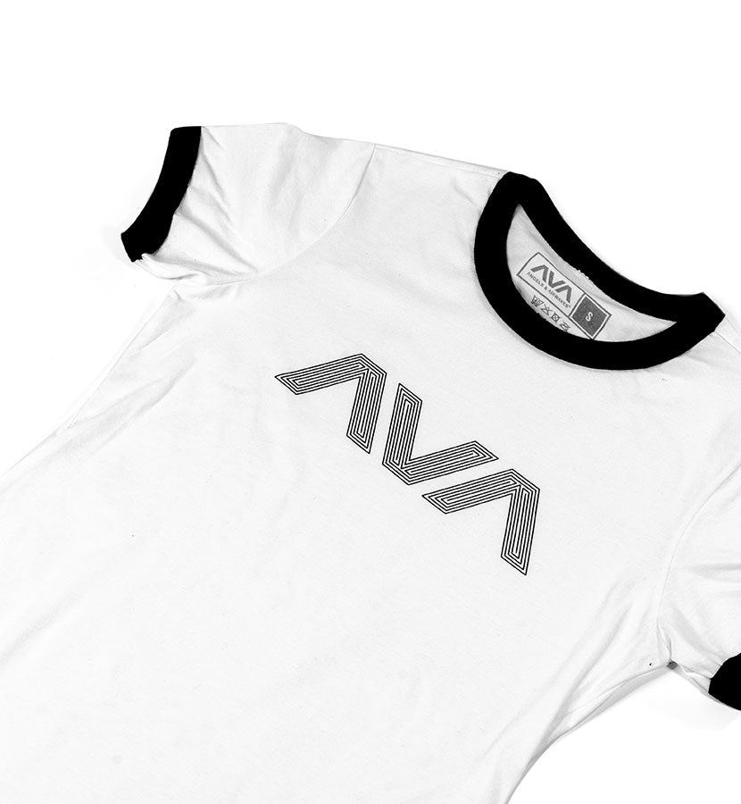 Angels and Airwaves Circuitboard Womens Ringer T-Shirt White/Black - To The Stars...